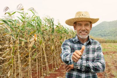 Senior Farmer with Thumbs Up